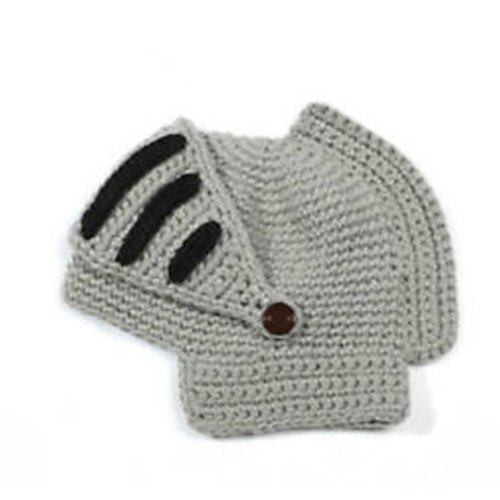 168e2ea19 LOCOMO Roman Knight Helmet Visor Cosplay Knit Beanie Hat Cap Wind ...