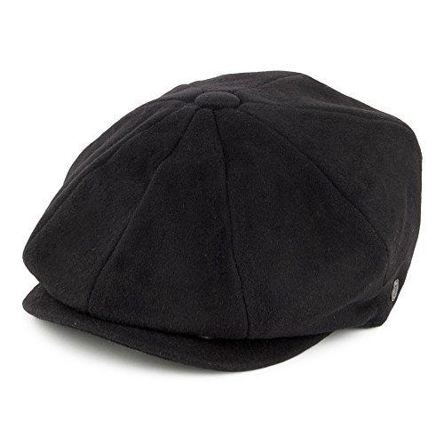 Adult Newsboy Hat (Jaxon Harlem Krupke Newsboy Cap (X-Large, Black))