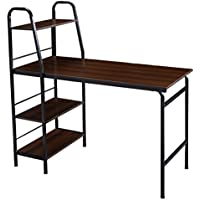 Tangkula 48 Multi-Function Adjustable Computer Desk Home Office Writing Table 4 Tier Shelf Wood Workstation