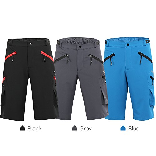 Lixada ARSUXEO Baggy Men's Cycling Shorts Bike Bicycle Shorts Sports Pants