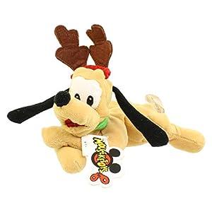 Disney Mouseketoys Mickey Mouse Club Christmas – Reindeer Pluto 9″ Bean Bag