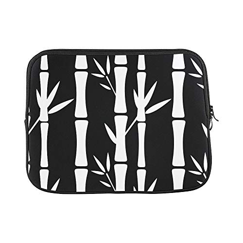 - Design Custom Seamless Pattern with Silhouettes Bamboo Trees and Sleeve Soft Laptop Case Bag Pouch Skin for MacBook Air 11