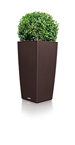 lechuza cubico cottage 30 planter mocha wicker watering my garden. Black Bedroom Furniture Sets. Home Design Ideas