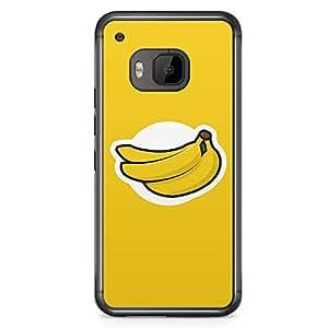 HTC One M9 Transparent Edge Phone Case Banana Logo Phone Case Banana M9 Cover with Transparent Frame