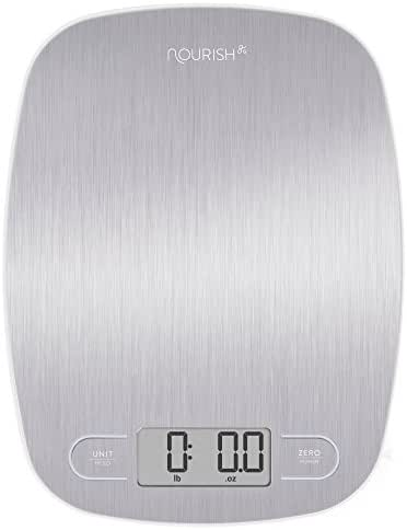 Digital Food Scale Digital Weight Scale, Grams and Ounces by Greater Goods (Silver)
