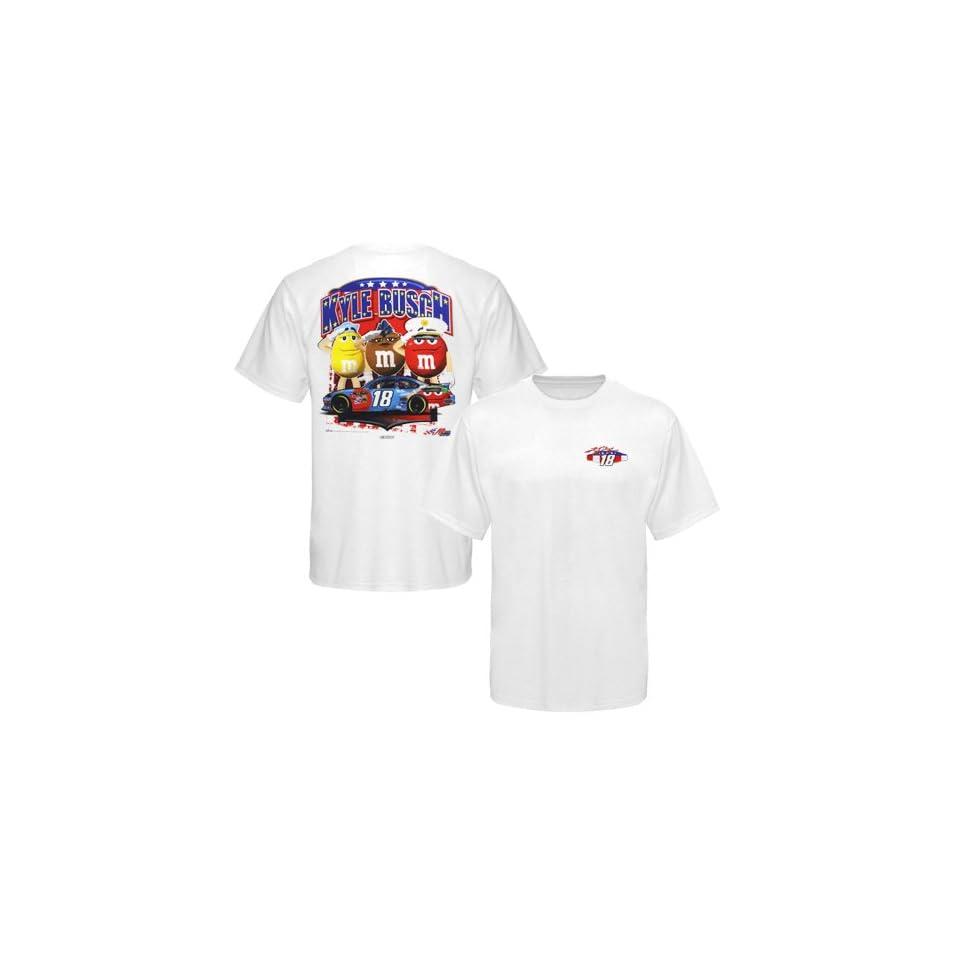 NASCAR Chase Authentics Kyle Busch NASCAR Unites Driver T Shirt   White
