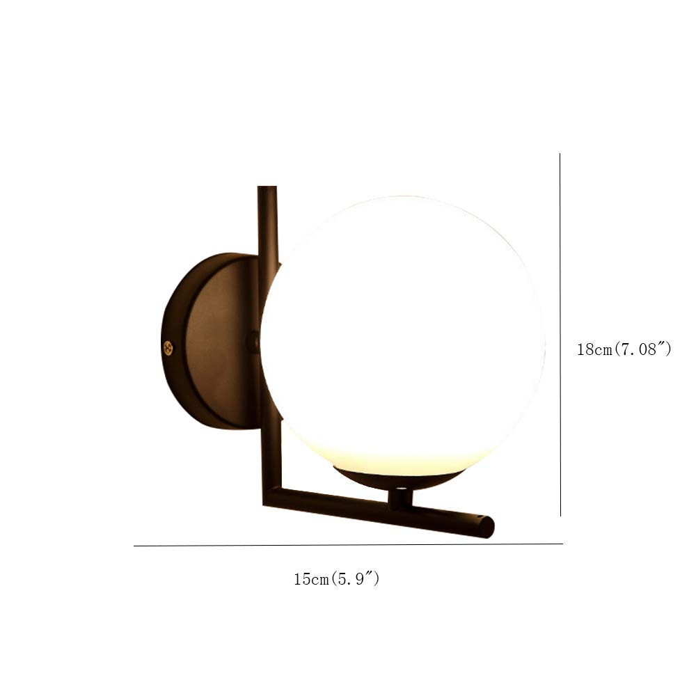 Glass Globe Srl.Fl 63088 Creative Metal Sconce Fixture Nordic Wall Lamp