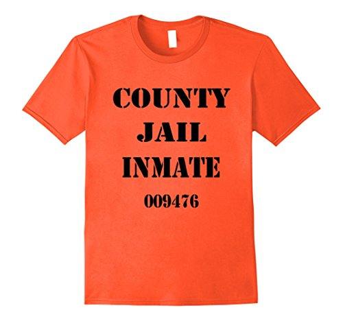Mens Jail Inmate Prisoner Halloween Costume T Shirt XL (Cop And Prisoner)