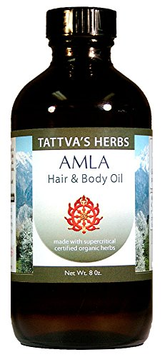 Follicle Nutrient Serum (Tattva's Herbs Amla Hair Oil, Strengthens Hair Follicles, Prevents Hair Loss, Hair Growth Serum, Reduces Split Ends, Repairs Frizzy Hair, Excellent Conditioner, Relieves Itchiness, 8 oz.)