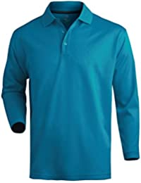 Moisture Wicking Long Sleeve Mesh Polo Shirt