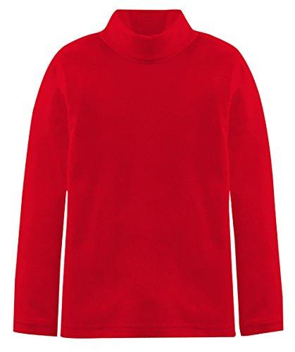 Popular Little Boy's Solid Cotton Turtleneck - Red - 4/5 ()