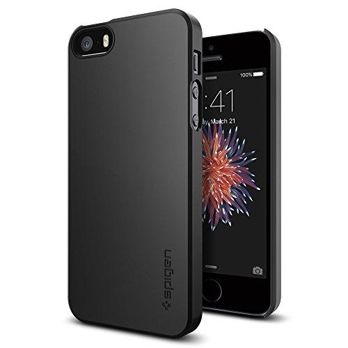 Spigen Thin Fit Designed for iPhone SE Case (2016) - Black