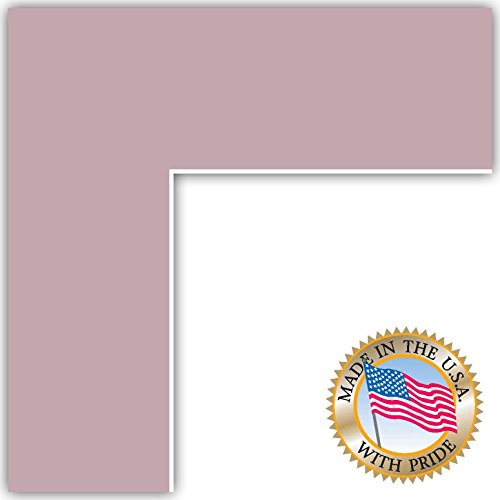 7x10 Lavender Mist Custom Mat for Picture Frame with 3x6 opening -