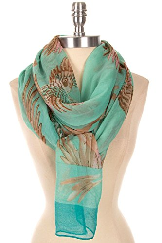 Vintage Costume Jewelry Nyc (TRENDY FASHION JEWELRY BEAUTIFUL BIRD OF PARADISE PRINT SCARF BY FASHION DESTINATION | (Mint))