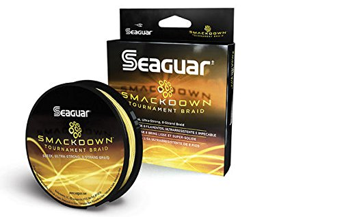 Seaguar  Smackdown Braided Fishing Line, Hi-Vis Yellow, 65-Pound/150-Yard