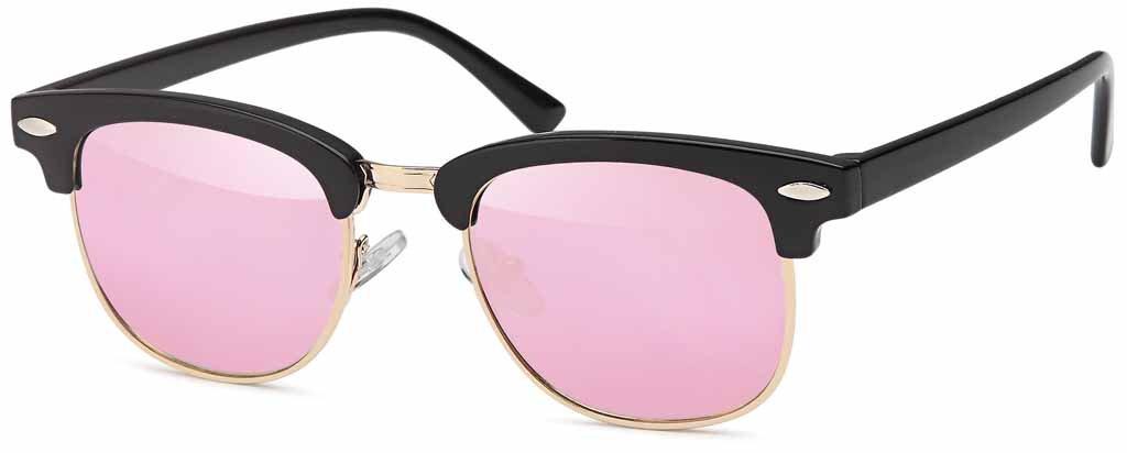 Verspiegelte Kinder Wayfarer-Sonnenbrille Halbrahmen - UV 400 Filter und CE-Prüfzeichen (pink verspiegelt) YQ6H0GZ05