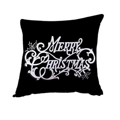 "Price comparison product image Goddessvan Merry Christmas Pillow Cases Linen Sofa Cushion Cover Home Decor 18""x18"" Inch (18""x18"" (approx 45cm45cm), A)"