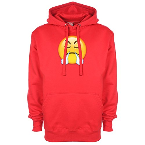 Face Capuche Minamo Rouge Sweat À Steaming Emoji wFFOR