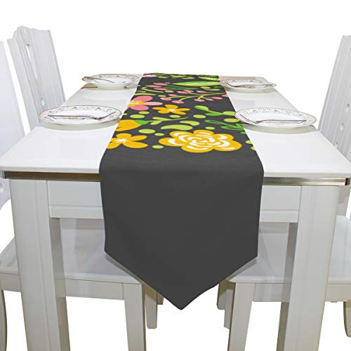Table Linens Funny English Letter N Daily Decoration Natural Table Runner Farmhouse Table Cloths for Kitchen Indoor Restaurant Office Table Covers Table Toppers 13x90 Inch -