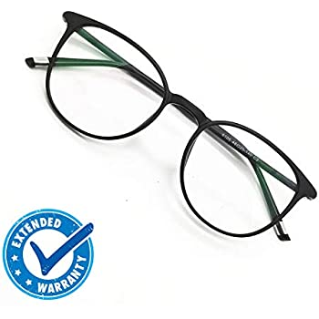 ba7141462ca Reading Glasses Round Computer Readers for Women Men Eyeglasses Frames for  Prescription Lens (A. Black
