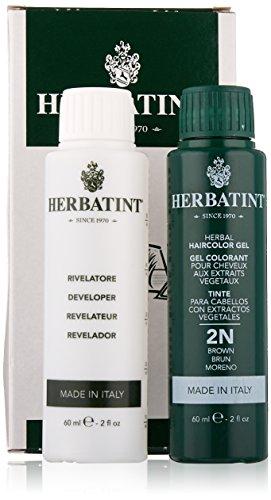 Herbatint: Herbatint Permanent Hair Color Brown 2N, 4.56 oz (2 pack) - Herbatint Hair Color Gel