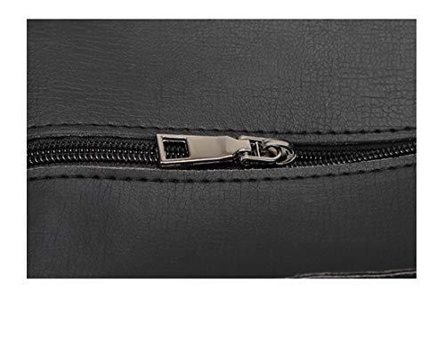 Cmbyn Nuovo Retro Donna Fashion Una Spalla Grande Capacità Stampa Di Lettere Borse a Mano Traspirante Tinta Unita Borsetta Nero