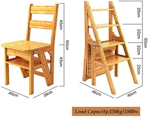 XSJ-Stepstools escalera de bambú escalera escalera sillas plegable escalera Taburete escalera Stepladders multifunción silla de comedor hogar decorativo estante o escalera escalera, escaleras de madera color Stepladders: Amazon.es: Juguetes y juegos