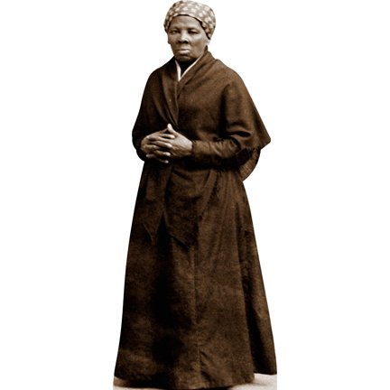 H61029 Harriet Tubman Cardboard Cutout Standee by HistoricalCutouts