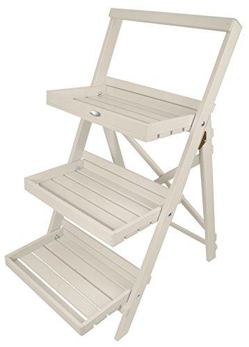 Esschert Design Stepped Plant Stand, White by Esschert Design