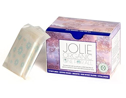 JOLIE ORGANIC Ultra Thin Panty Liners- 24 Count…