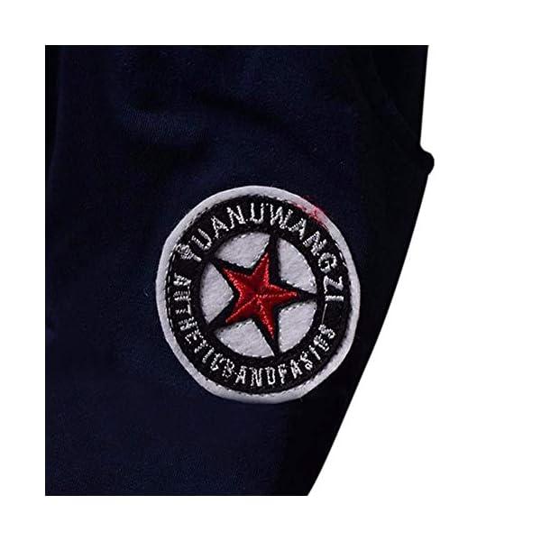 Wongfon Ragazzi Abbigliamento Sportivo Abbigliamento, Ragazzi T-Shirt a Righe con Cappuccio Manica Lunga Tute Pullover… 2
