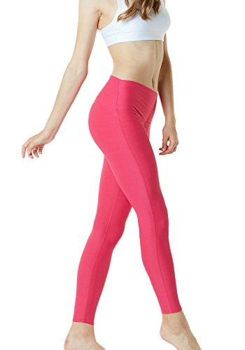 TM-FYP42-MGT_Small Tesla Women's Yoga Pants High-Waist Tummy Control w Hidden Pocket FYP42