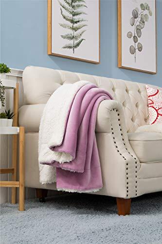 BEDSURE Sherpa Fleece Blanket Throw Size Lalic Plush Blanket Fuzzy Soft Blanket Microfiber