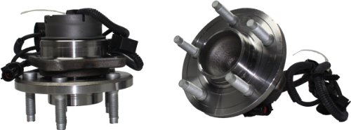 Wheel Ford Crown Victoria Original - Detroit Axle - Pair (2) Front Wheel Bearing & Hub Assembly w/ABS Driver and Passenger Side for 2003 2004 2005 Lincoln Town Car/Mercury Marauder/Mercury Grand Marquis/Ford Crown Victoria