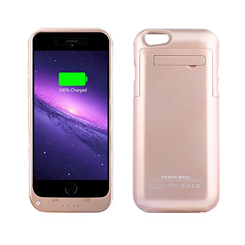 YHhao 3500mAh Charger Case for iPhone 6 / 6s Slim Extended Battery Case Portable Cell Phone Battery Charger Back up Power Bank Case for iPhone 6/6s (Sungold) (Best Backup Charger For Iphone 6)