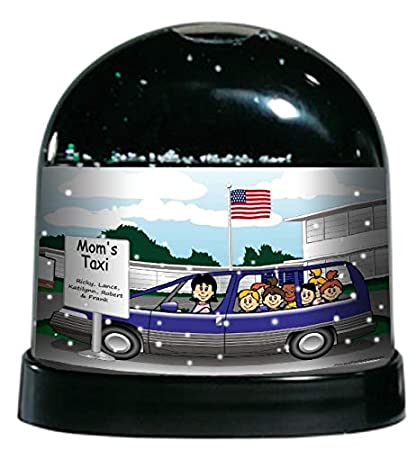 Male Great for Mortician Personalized Friendly Folks Cartoon Caricature Snow Globe Gift Funeral Director Funeral Home