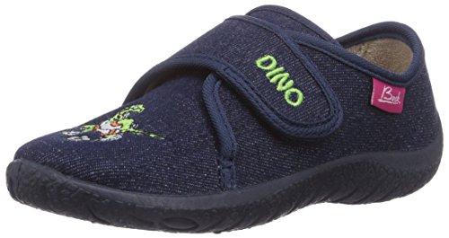 Beck Dino - pantuflas con forro de material sintético niño azul - Blau (dunkelblau 05)