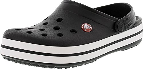 Crocs Heren Crocband Zwart Enkellaags Rubberen Sandaal - 7m