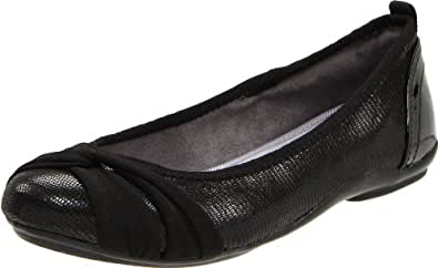 DKNY Women's Sophie  Flat,Black,11 M US