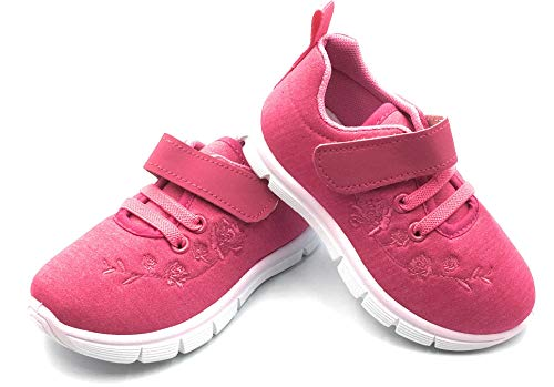- Bless Children Baby Toddlers Boy's Girl's Breathable Fashion Sneakers Walking Running Shoes,Fuchsia1207,Size 5
