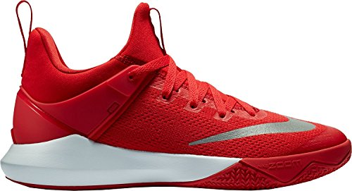 Nike Mens Zoom Shift Universiteit Rood / Wit Nylon Basketbalschoenen 7 D (m) Ons