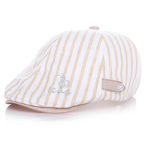 Moon Kitty Baby Boys Cotton newsboy Cap Pinstripe Hat Driving Hat Golf Cap For - Pinstripe Cotton Cap