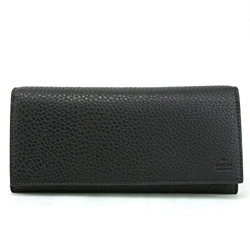 Gucci Wallets Continental Wallet (Gucci Men's Black Leather Long Continental Wallet with Zipper Pocket 296676 1000)