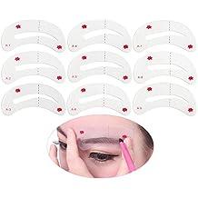 WINOMO 9 Styles Eyebrow Shaping Stencils, Eyebrow Grooming Stencil Kit, Shaping Templates DIY Tools