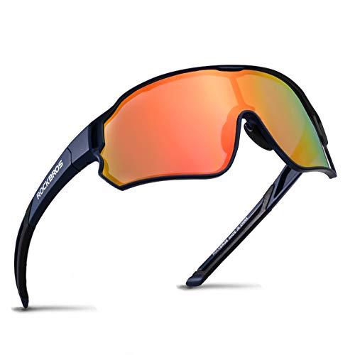 ROCKBROS Fietsbril Gepolariseerde Sportbril HD Kleurrijke Zonnebril met UV-bescherming Winddichte Fietsbril voor Fietsen…