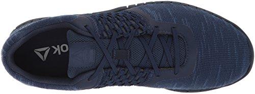Reebok Mens Stampa Corsa Dist Sneaker Coll. Navy / Bianco / Acciaio