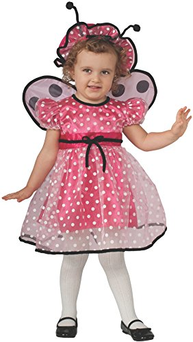 Rubie's Baby Girl's Pink Lady Bug Toddler Costume, Multi, (Old Lady Costume For Toddler)