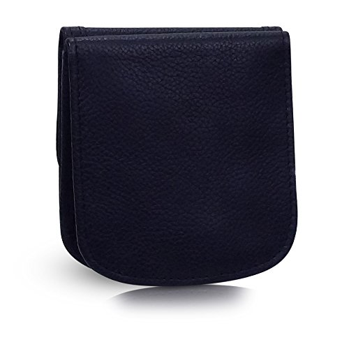 Women Coin Small for WALLET Minimalist Purse Card Black TAXI Wallet LEATHER Folding qzwpvwOx
