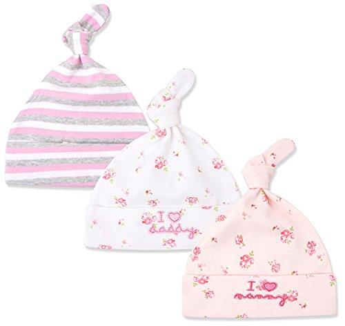 Beleheen Newborn Cool Boy Cute Girls Nursery Beanie Hospital Hat Cotton Adjustable Knot Cap Headwear Baby Turban Caps (Pink - Beanie Cool Hat