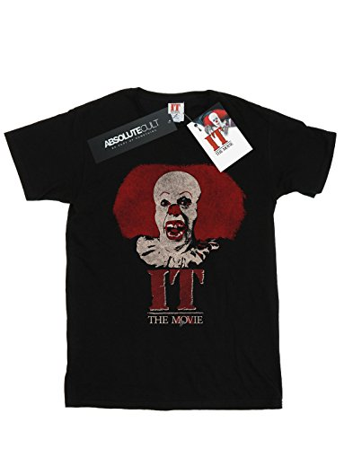 Cult logo Pennywise negro 1990 Absolute con de It Hombre Camiseta Clown Cz5nqY